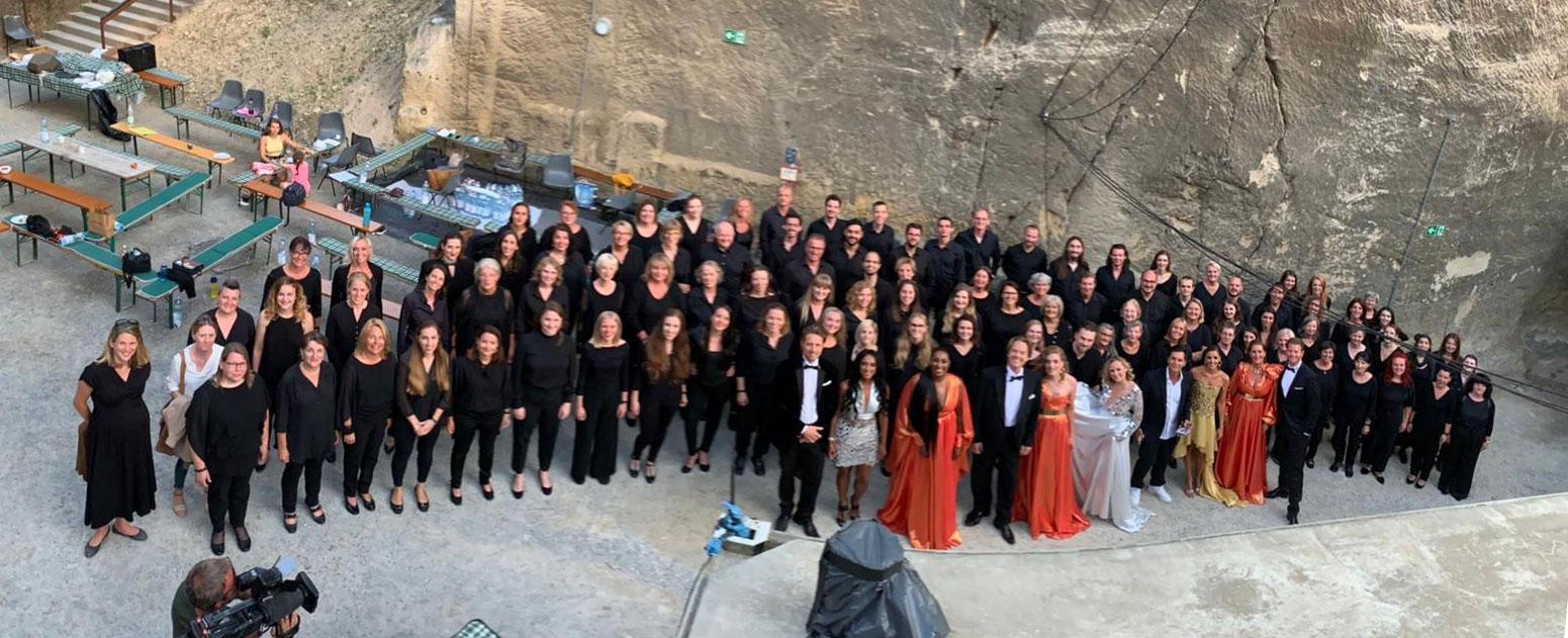 """Landeschor Burgenland bei """"Musicalstars im Steinbruch 2021"""""""